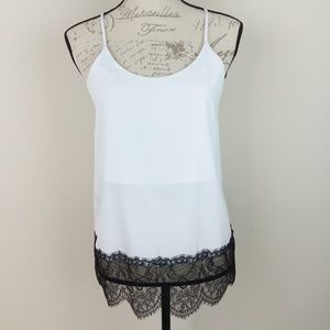 Ro & De Lace Cami Tunic Tank Medium New w Tag